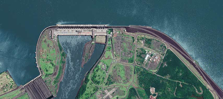 Itaipu hydro power plant in Paraguay